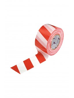 Лента оградительная, 75мм, 50мкм (200м) красно-белая