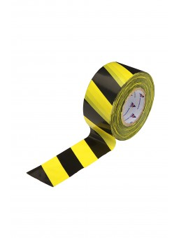 Лента оградительная, 75мм, 50мкм (250м) желто-черная