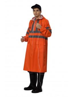 Плащ ПВХ Extra Vision WPL оранжевый
